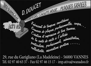 ATIVA, imprimerie, tampon caoutchouc plaques glacées à Vannes