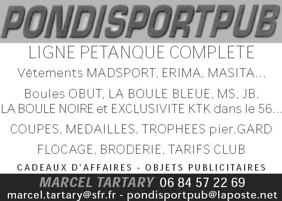 Pondi Sport Pub coupes et trophées de pétanque