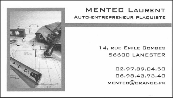 Laurent Mentec plaquiste à Lanester